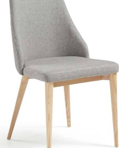Sada 2 světle šedých jídelních židlí La Forma Roxie