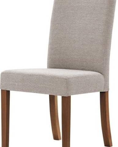 Šedohnědá židle s tmavě hnědými nohami z bukového dřeva Ted Lapidus Maison Tonka