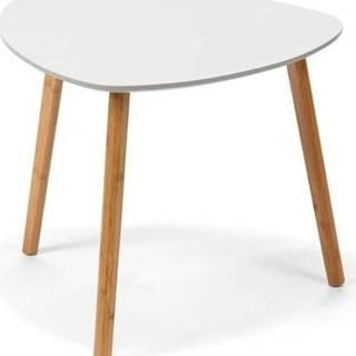 Bílý odkládací stolek loomi.design Viby, 40x40cm