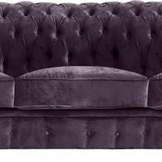 Fialová pohovka Max Winzer Norwin Velvet, 200 cm