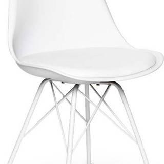 Sada 2 bílých židlí s bílým podnožím z kovu loomi.design Eco