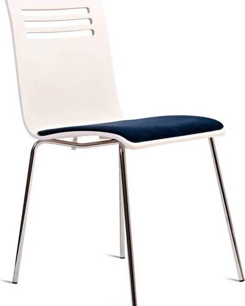 Charlie Pommier Bílá židle se sedákem z bukového dřeva Charlie Pommier Comfort