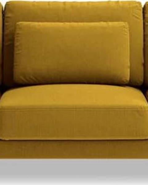 Interieurs 86 Hořčicově žlutá pohovka Interieurs 86 Seine, 220 cm