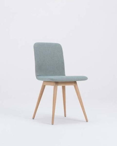 Gazzda Modrá jídelní židle s podnožím z dubového dřeva Gazzda Ena