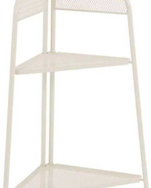 ADDU Světle béžová kovová rohová police nabalkon ADDU MWH, výška 100cm