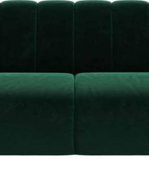 Ghado Tmavě zelená sametová pohovka Ghado Shel, 210 cm