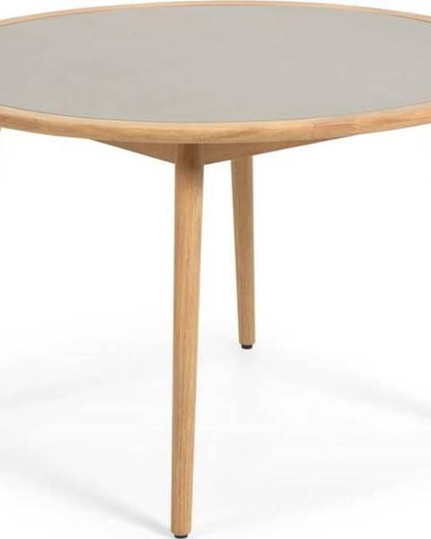 La Forma Zahradní stůl z eukalyptového dřeva s betonovou deskou La Forma Glynis Nina, ⌀ 120 cm