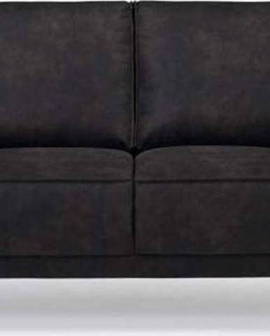 Antracitově šedá pohovka z imitace kůže Scandic Copenhagen, 164 cm