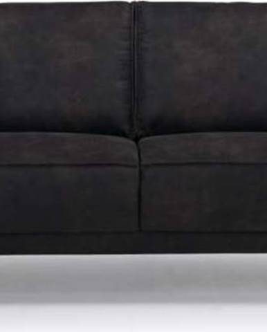 Antracitově šedá pohovka z imitace kůže Scandic Copenhagen, 224 cm