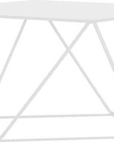Bílý konferenční stolek Custom Form Daryl, 80x80cm