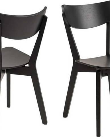 Černá jídelní židle Actona Roxby
