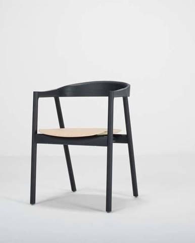 Černá jídelní židle z dubového dřeva Gazzda Muna