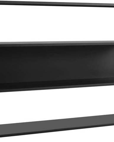 Černá kovová knihovna Custom Form Hyller Side