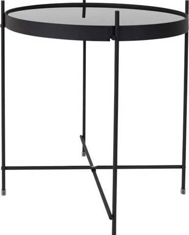 Černý odkládací stolek Zuiver Cupid, ⌀43cm