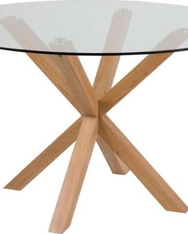 Jídelní stůl se skleněnou deskou Actona Heaven, ⌀119cm