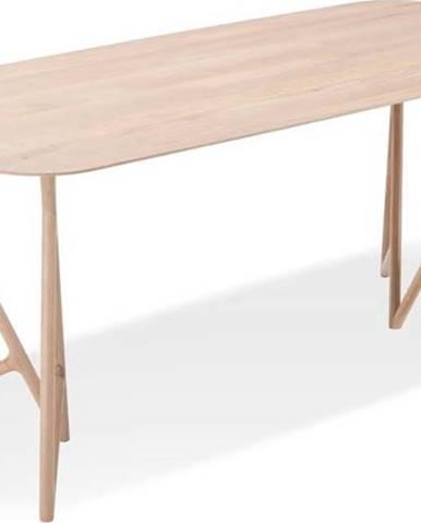 Jídelní stůl z masivního dubového dřeva Gazzda Koza, 220x90cm