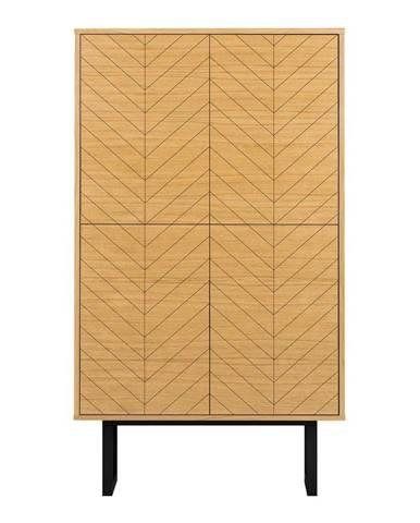 Komoda v dekoru dubového dřeva Woodman Camden Herringbone