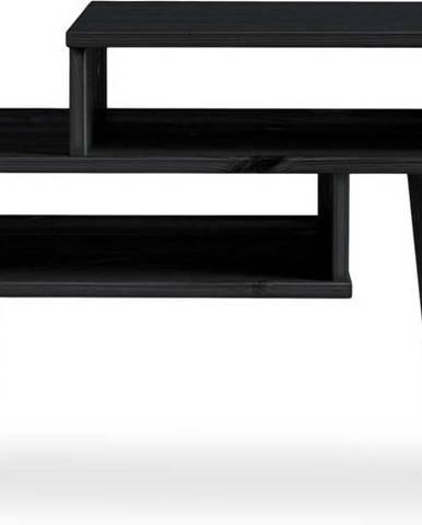 Konferenční stolek z borovicového dřeva v černé barvě Karup Design Haku