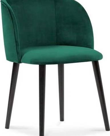 Lahvově zelená jídelní židle se sametovým potahem Windsor & Co Sofas Aurora