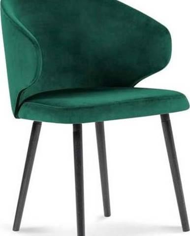 Lahvově zelená jídelní židle se sametovým potahem Windsor & Co Sofas Nemesis