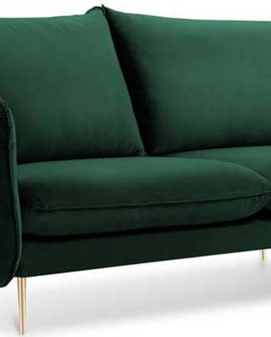 Lahvově zelená sametová pohovka Cosmopolitan Design Florence, 160 cm