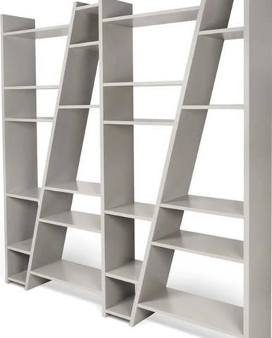 Matná šedá knihovna TemaHome Delta