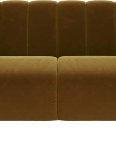 Medově žlutá sametová pohovka Ghado Shel, 170 cm
