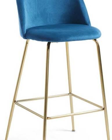 Modrá barová židle La Forma Mystere
