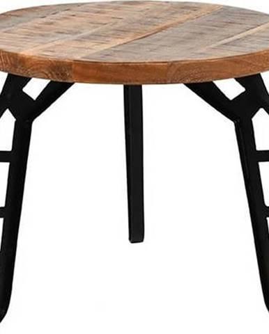 Odkládací stolek sdeskou zmangového dřeva LABEL51 Flintstone, ⌀45cm