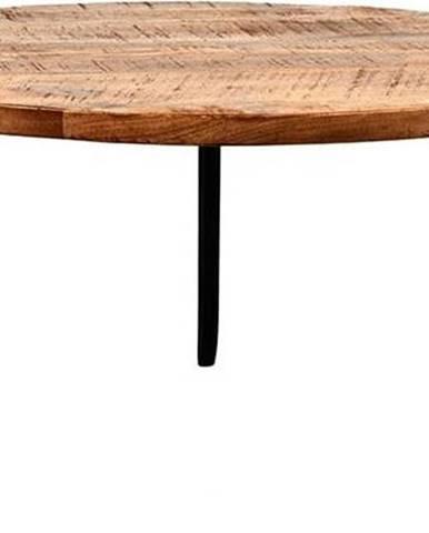 Konferenční stolek sdeskou zmangového dřeva LABEL51 Flintstone, ⌀80cm