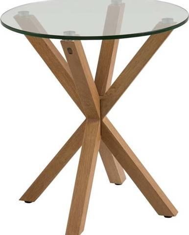 Odkládací stolek se skleněnou deskou Actona Heaven, ⌀55cm