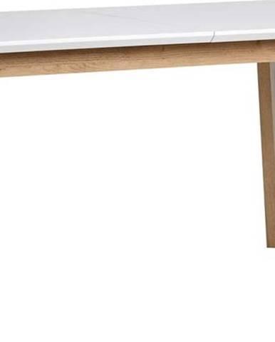 Rozkládací jídelní stůl s bílou deskou Marckeric Libra
