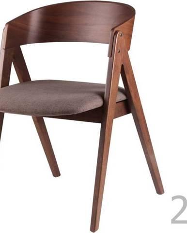 Sada 2 jídelních židlí s hnědým podsedákem sømcasa Rina
