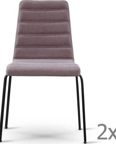 Sada 2 šedohnědých židlí s černýma nohama Garageeight