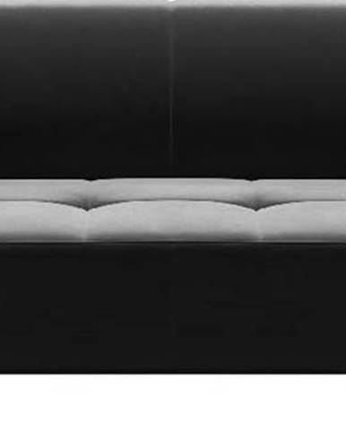 Tmavě šedá sametová pohovka MESONICA Toro, 217 cm