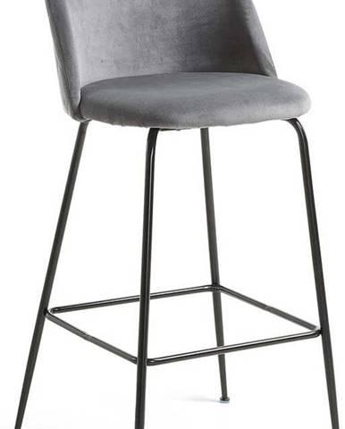Šedá barová židle La Forma Mystere