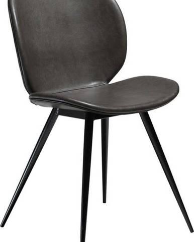 Šedá koženková židle DAN-FORM Denmark Cloud