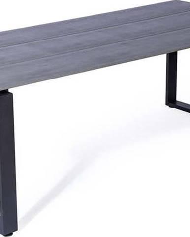 Šedý zahradní stůl pro 8 osob Le Bonom Strong, 100 x 210 cm