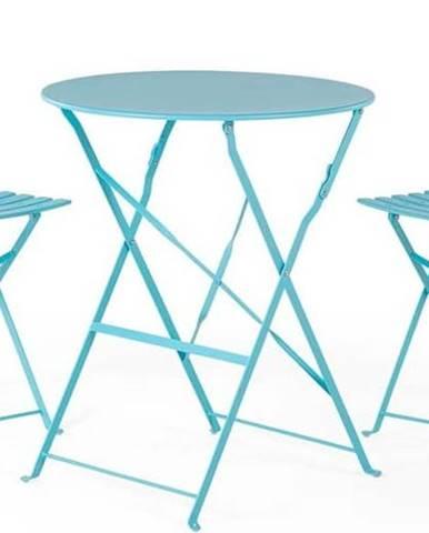 Set modrého zahradního nábytku Le Bonom Retro