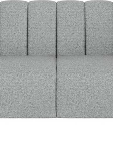 Světle šedá pohovka Ghado Shel, 170 cm
