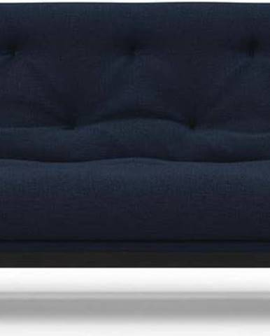 Tmavě modrá rozkládací pohovka Innovation Balder Elegant Mixed Dance Blue, 97x230cm