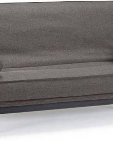 Tmavě šedá rozkládací pohovka se snímatelným potahem Innovation Minimum Flashtex Dark Grey