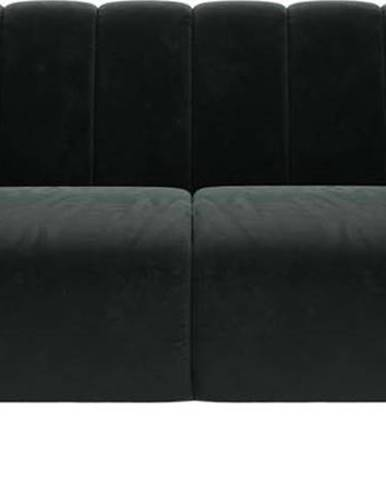 Tmavě šedá sametová pohovka Ghado Shel, 170 cm