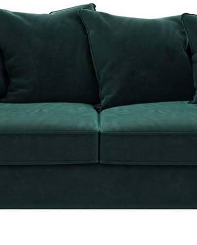 Tmavě tyrkysově zelená sametová pohovka Ghado Esme, 176 cm