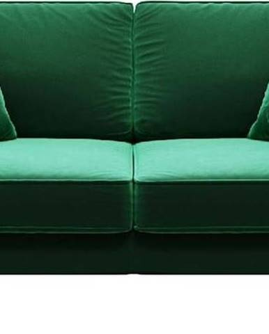 Zelená sametová pohovka MESONICA Kobo, 167 cm