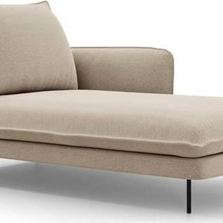 Béžová lenoška Cosmopolitan Design Vienna, pravý roh