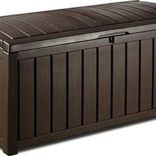 Hnědý zahradní úložný box Keter, 65 x 61 cm