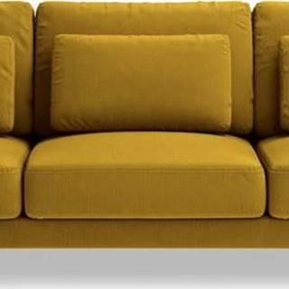 Hořčicově žlutá pohovka Interieurs 86 Seine, 220 cm