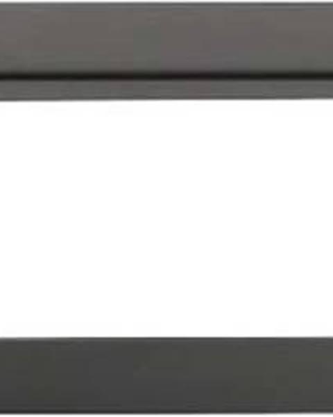 WENKO Antracitově šedý nástěnný věšák s poličkou na ručníky Wenko Montella, délka61cm