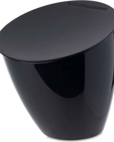 Černý odpadkový koš na kuchyňskou linku Rosti Mepal Calypso, 2,2l